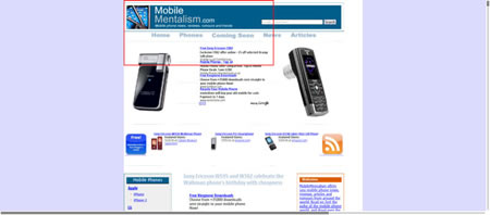 Nokia E90 browsing the web
