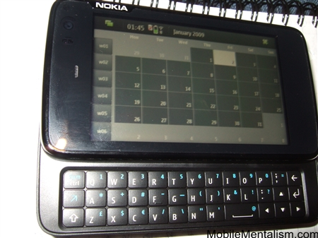 Nokia N900 calendar application