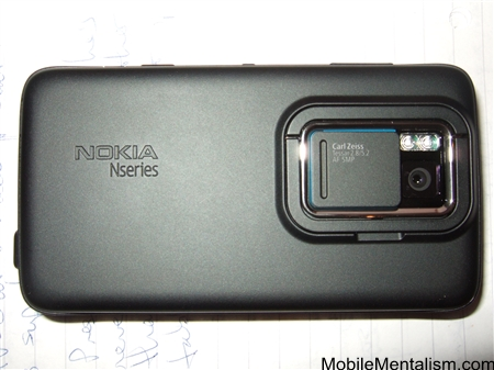 Nokia N900 smartphone from the back
