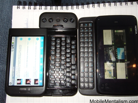 Nokia N900 and T-Mobile G1 Android phone